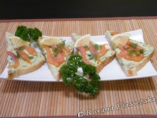 Canap truite et avocat tostada de trucha y aguacate for Canape pronunciation